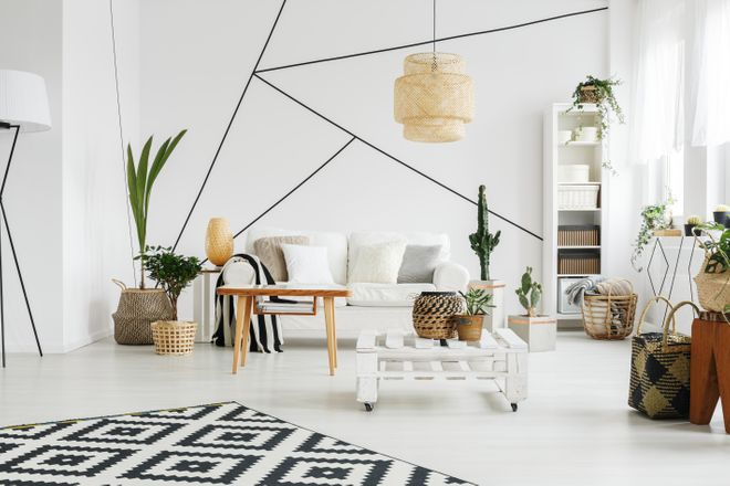 Des formes géométriques au mur