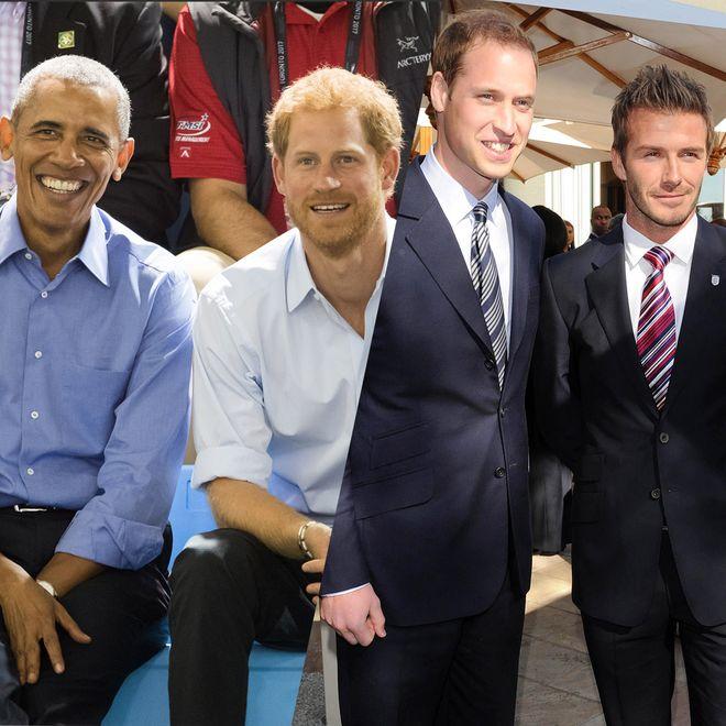 Prinz Harry und Barack Obama sind befreundet ebenso wie Prinz William und David Beckham