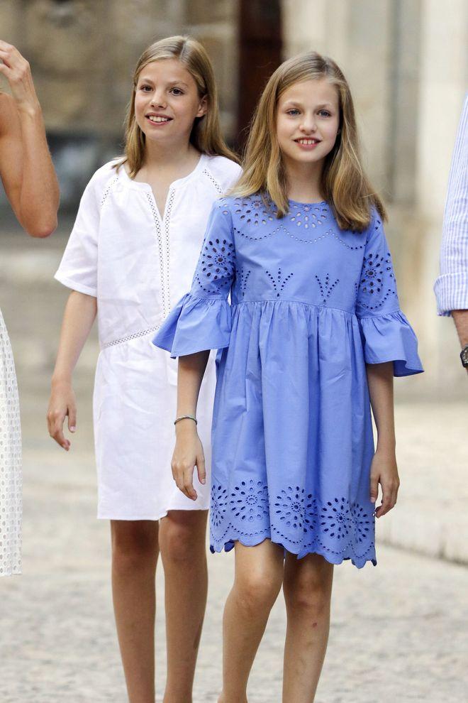 Prinzessin Sofia und Prinzessin Leonor von Spanien