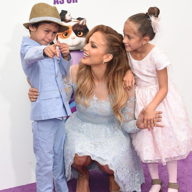 Jennifer Lopez e i suoi figli