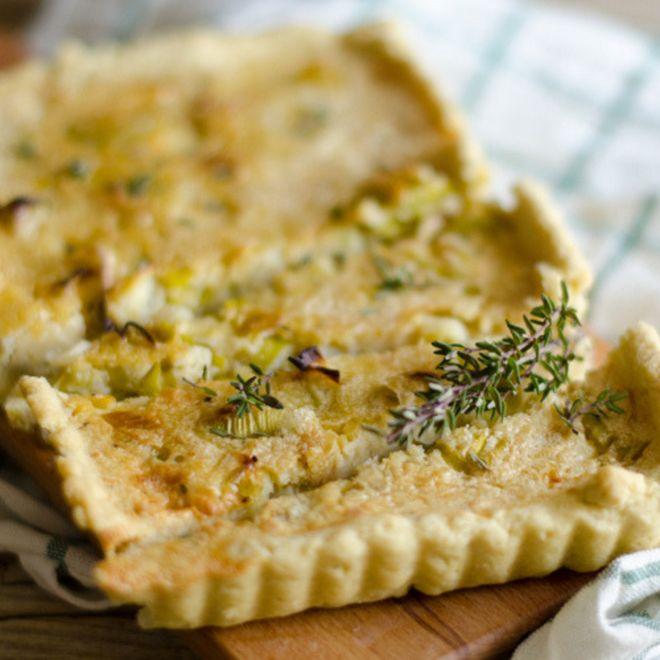 Torta salata vegana veloce con porro e ceci!