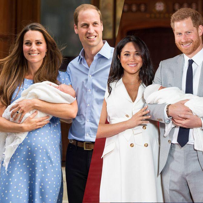 Die Babypräsentationen von Kate und Meghan
