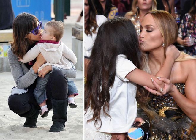 DIESE Stars küssen ihre Kinder auf den Mund