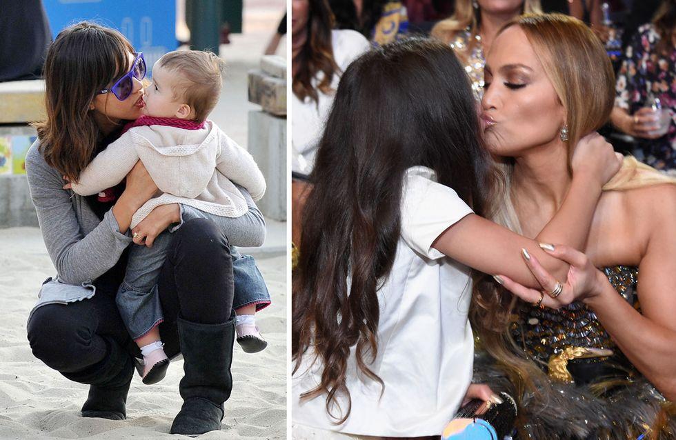 Umstrittener Liebesbeweis? DIESE Stars küssen ihre Kinder auf den Mund