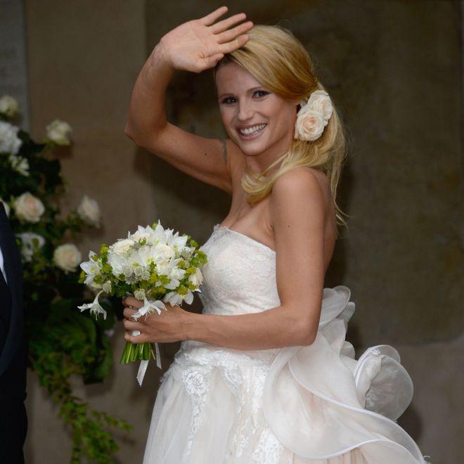 Gli abiti da sposa da favola delle star: Michelle Hunziker