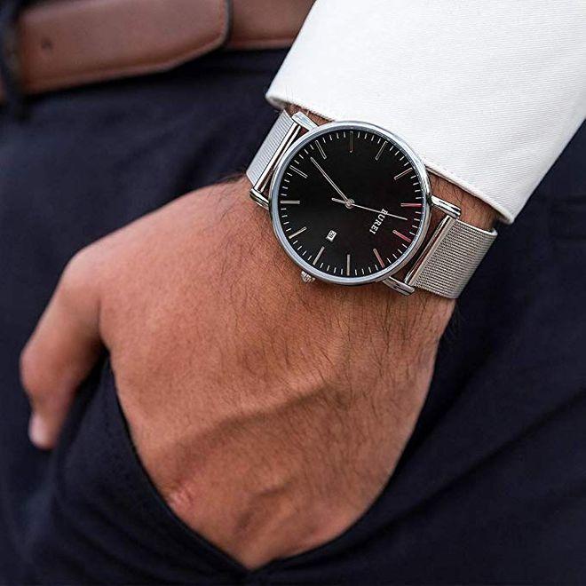 Orologio uomo con cinturino in acciaio inossidabile BUREI (sconto del 30%)