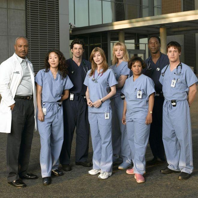 Il cast della prima stagione di Grey's Anatomy nel 2005