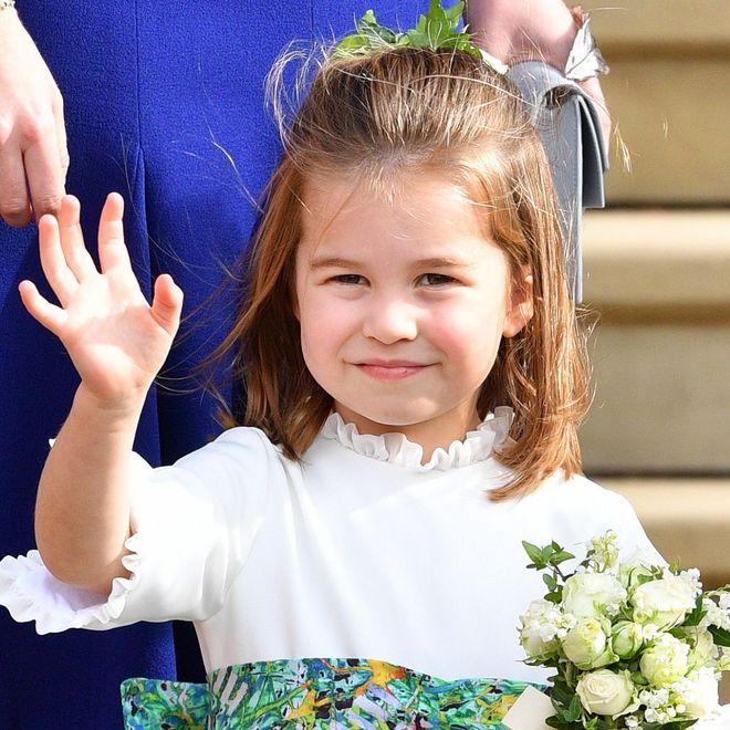 I look della principessina Charlotte