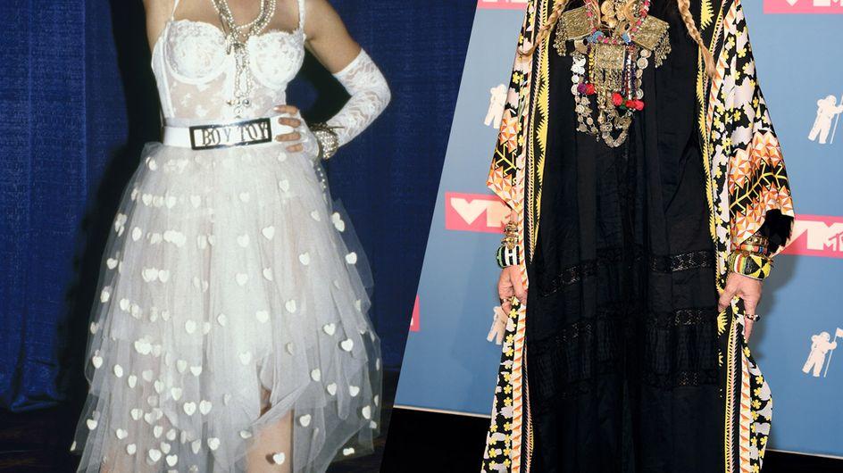 Retour sur l'évolution mode de Madonna, l'icône de la pop
