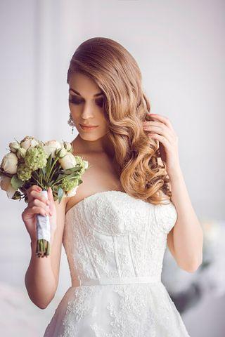 Haare offene braut diadem Diademe Hochzeit