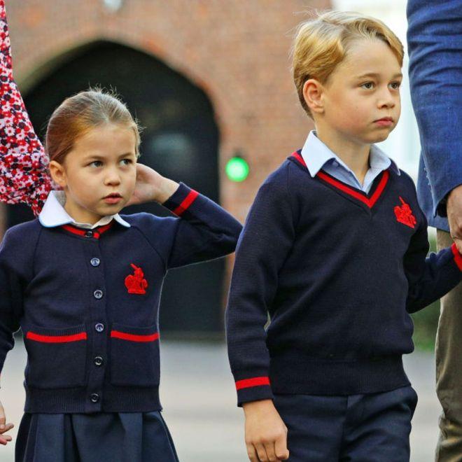 Il primo giorno di scuola dei reali