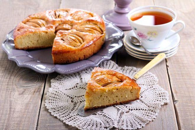 Gâteau aux pommes 'en deux fois'