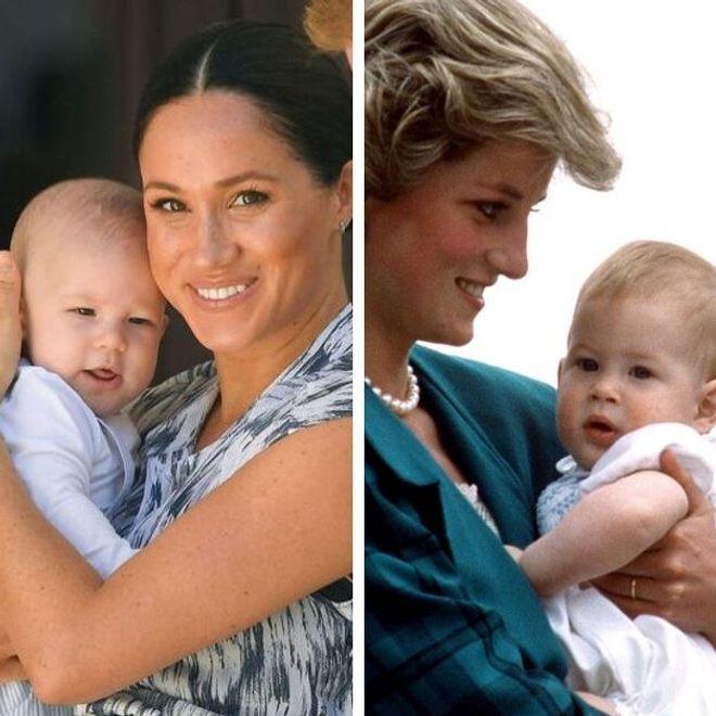 el increíble parecido entre Harry y su papá