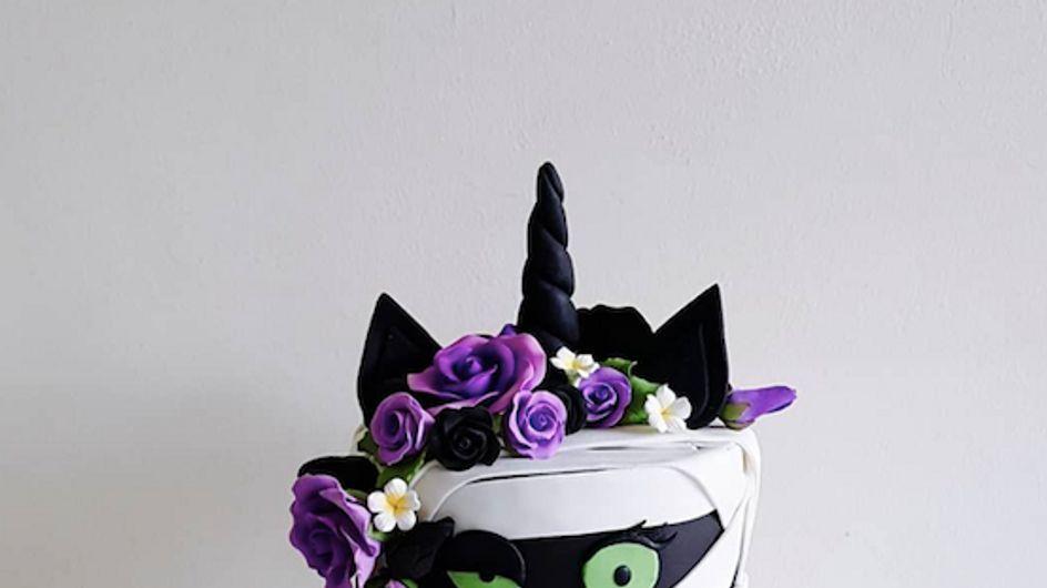 Top 20 des plus beaux gâteaux licorne d'Halloween, repérés sur Pinterest