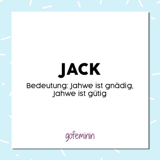 Beliebte irische Vornamen: Jack