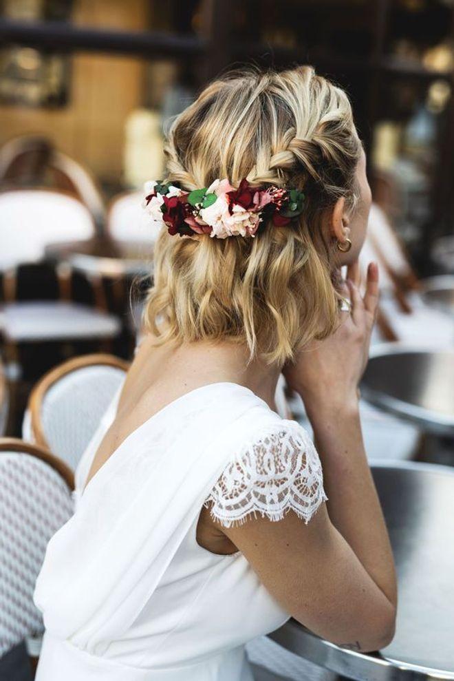 40 Coiffures De Mariage Pour Cheveux Mi Longs Album Photo