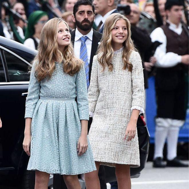 I look della principesse Leonor e Sofia di Spagna