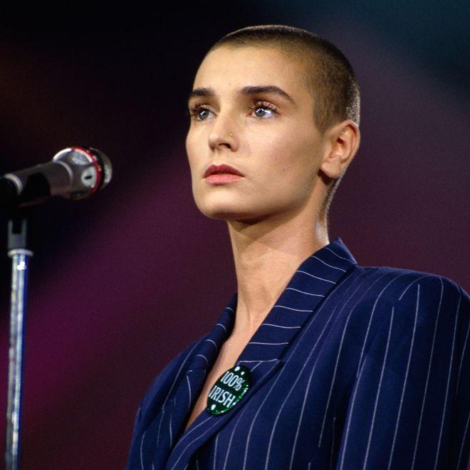 Sinéad O'Connor gilt als eine der Vorreiterinnen für kahlgeschorene Frauenköpfe