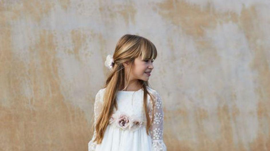 ¿Necesitas ideas para escoger el vestido de comunión de tu pequeña? Inspírate con estos diseños