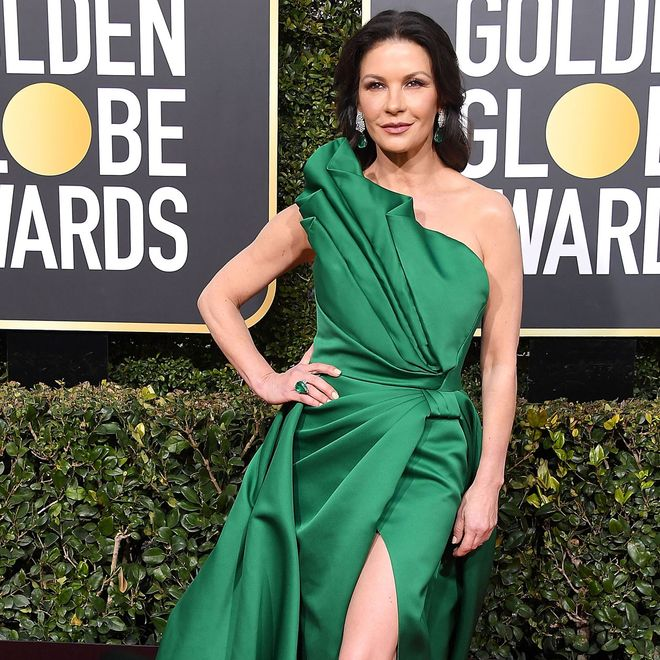 Cathrine Zeta-Jones bei den Golden Globes im Januar 2019