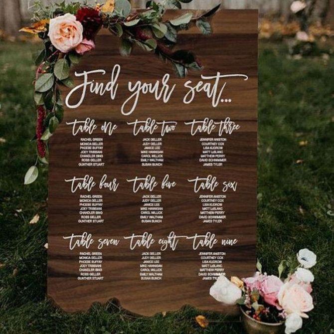 Tante idee per realizzare il tuo tableau de mariage