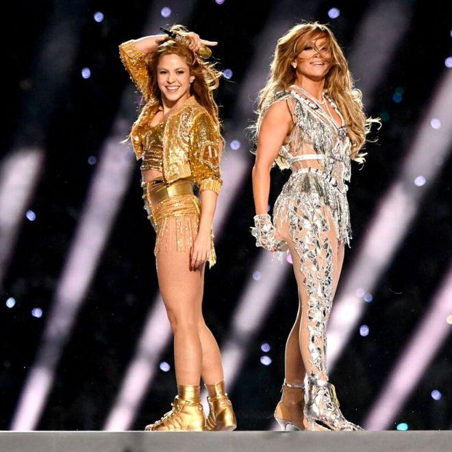 Shakira e JLo al Super Bowl 2020