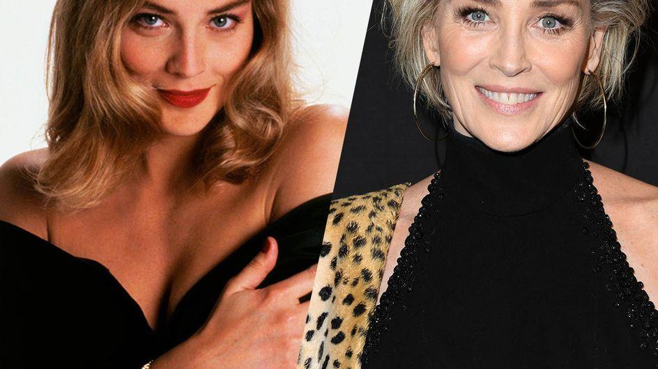 Retour sur l'évolution beauté de Sharon Stone, icône glamour