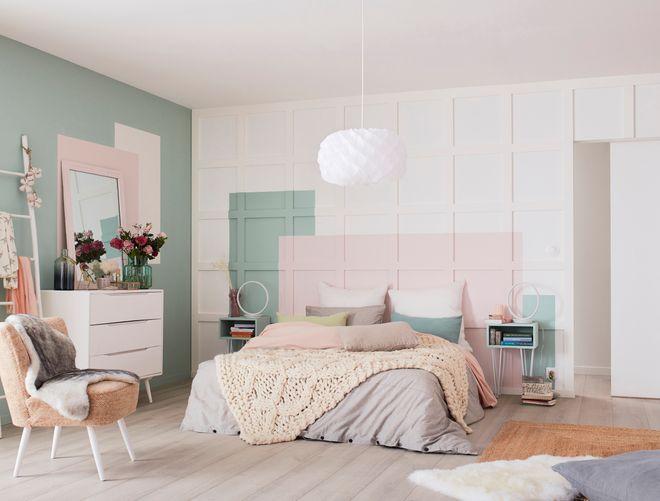 Une chambre scandinave pastel