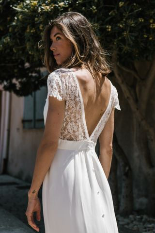Les plus belles robes de mariée dos nu :