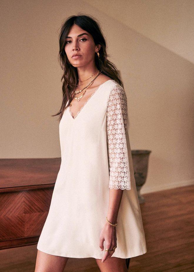 Robe de mariée courte trapèze