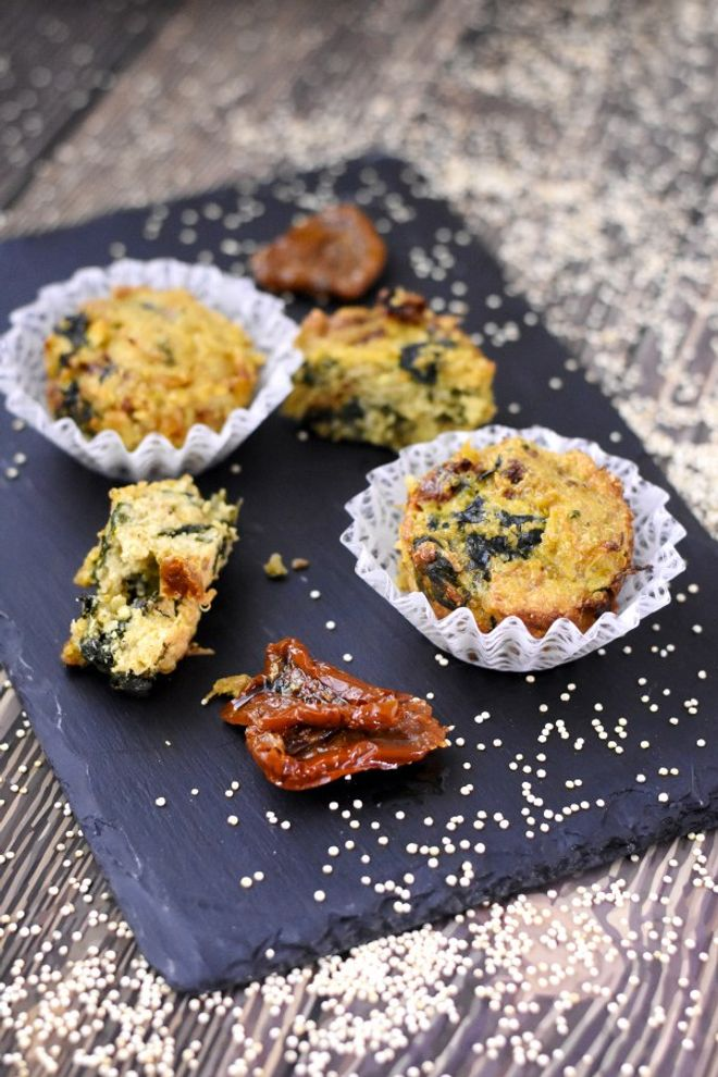 Muffin quinoa épinard tomates séchées
