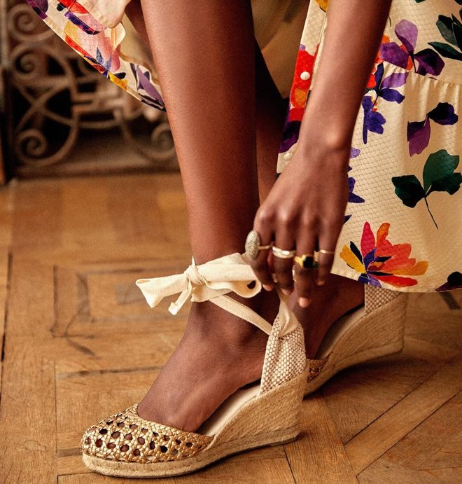 Des sandales compensées pour le printemps-été