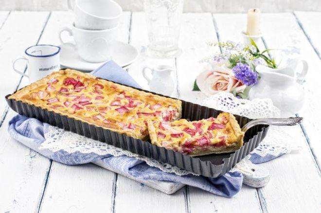 Tarte rhubarbe/ pommes crémeuse