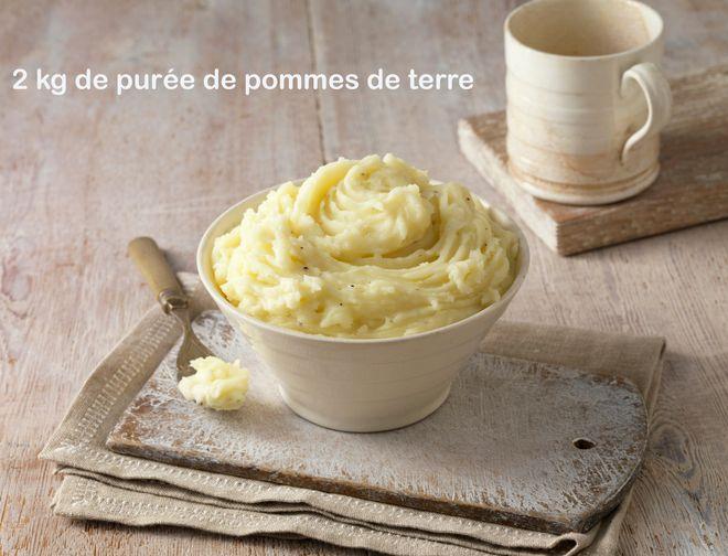 2 kg de purée de pommes de terre