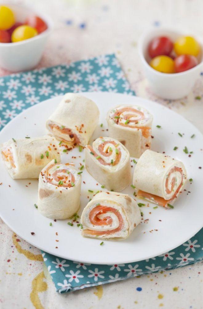 Mini wraps au saumon