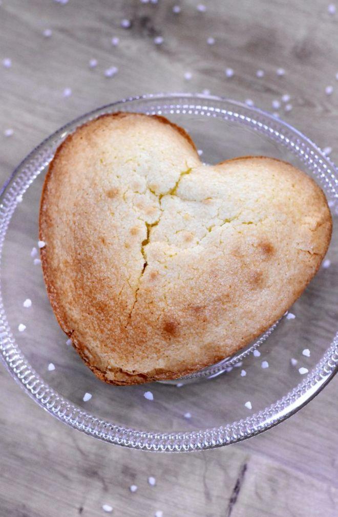Gâteau au yaourt en forme de coeur