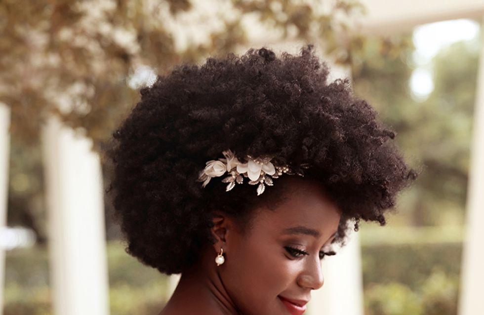 20 coiffures de mariée pour cheveux afro