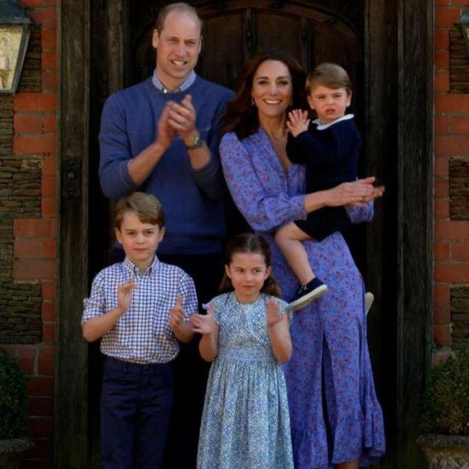 Il principe William, Kate e la loro famiglia
