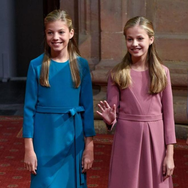 Le principesse Sofia e Leonor di Spagna