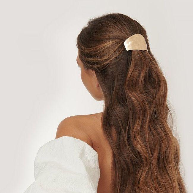 Frisur mit offenen langen haaren