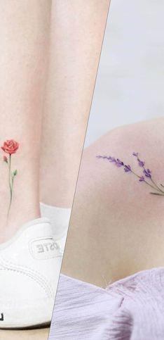 30 motifs floraux qui nous font craquer pour les tatouages minimalistes