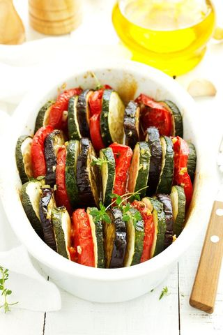 Tian de légumes basque