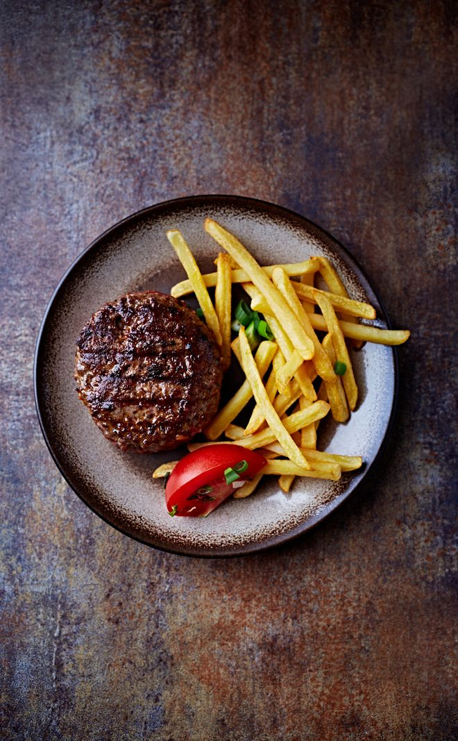 Le steak haché frites