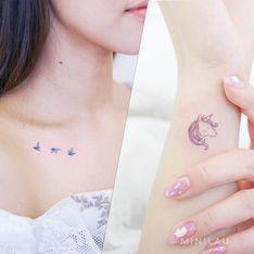 Quand la tendance pastel s'empare du tatouage, on adore !