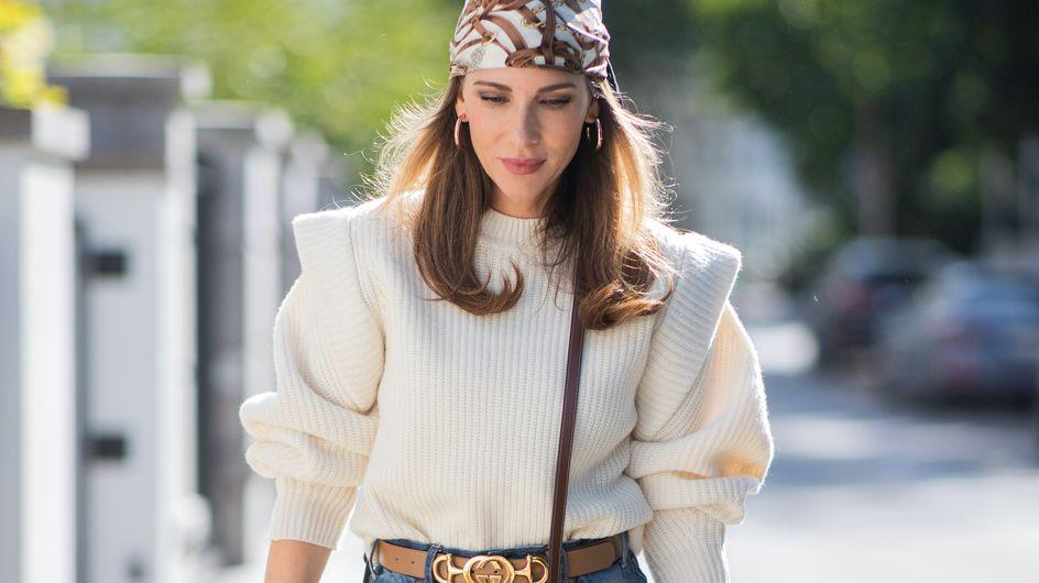 Le pull à épaulettes, must-have de l'hiver