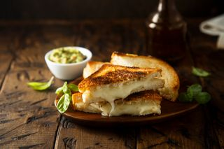 Un grilled cheese
