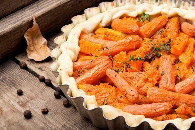 Lundi midi : Tarte aux carottes vegan
