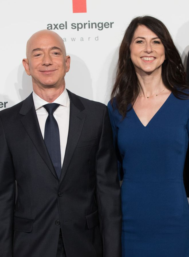 Jeff Bezos e MacKenzie Scott
