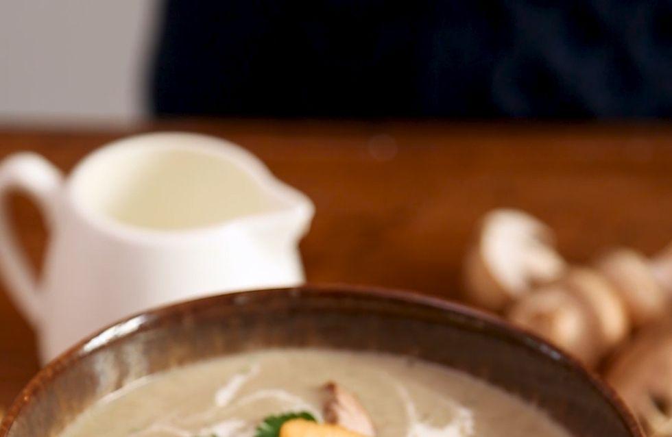 Pas-à-pas : une soupe de champignon réconfortante