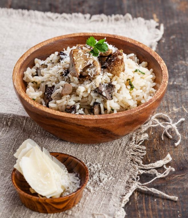 Lundi midi : Risotto aux champignons frais